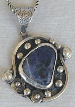 Lapis-raw  pendant-P62