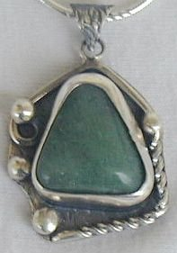 Green agate pendant-PL1