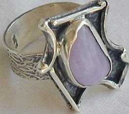 Amethyst crystal ring-Hmd