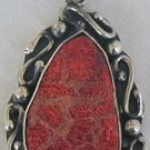 Colored sea stone pendant