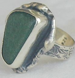 Green quartz ring-HMC