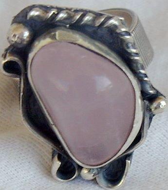 Pink quartz ring SR128