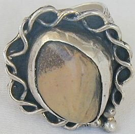 Brown agate ring-SR40