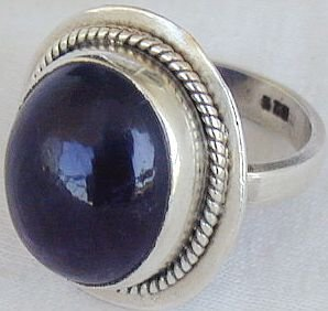 Dark purple glass ring