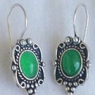 Small green earrings