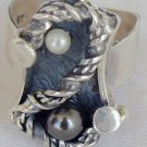 Black and white pearls ring-SR42