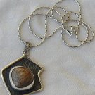 Brown hand made pendant-P14