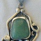 Green  silver pendant -P19