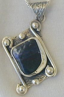 Lapis raw pendant-PLS