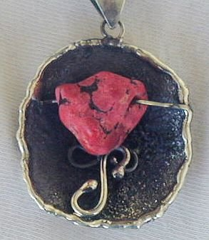 Red sea stone pendant-P8