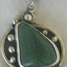 Green hand made pendant-P7