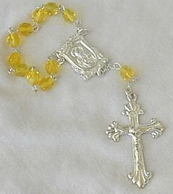 Mini yellow Rosary-A