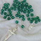 Beautiful green beads rosary