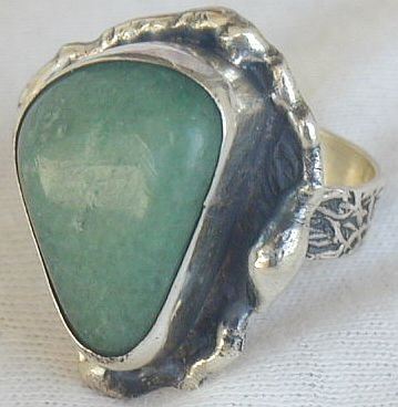 Green galss ring-SR107