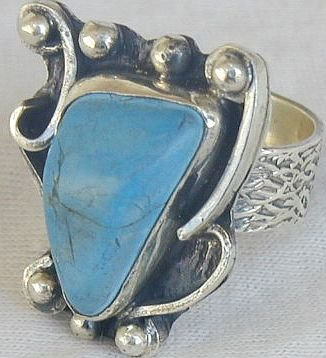 Turquoise press ring-SR65