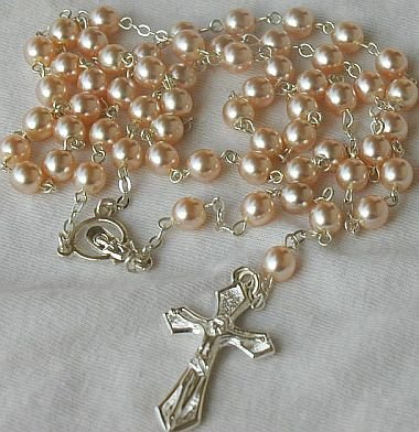 Pink pearls Rosary-B