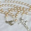 White pearls Rosary-B