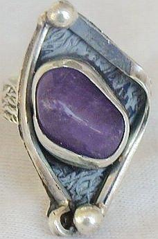 Purple glass ring
