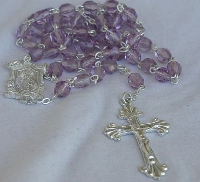 A purple Rosary