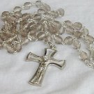 Rosary with diamond glass beads