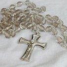 Rosary with diamond glass beads