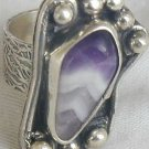 Purple glass ring-SR112