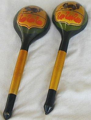 Pair of wood spoons