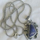 Blue colored pendant stone-hand made-HP124