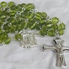 Peridot glass beads Rosary