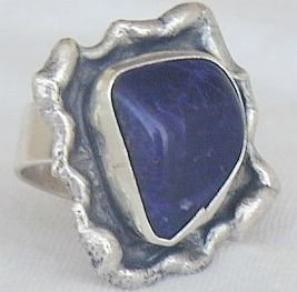 Blue hand made ring-BHM-48