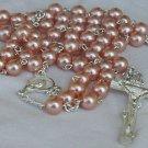 Dark pink beads Rosary