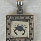 Scorpio A zodiac sign pendant