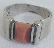 Fashionbrown-orange stone ring