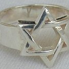 Silver Star of David ring - B