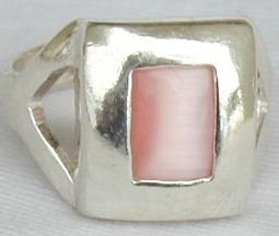Pink cat eye ring
