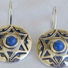 David-Star blue earrings