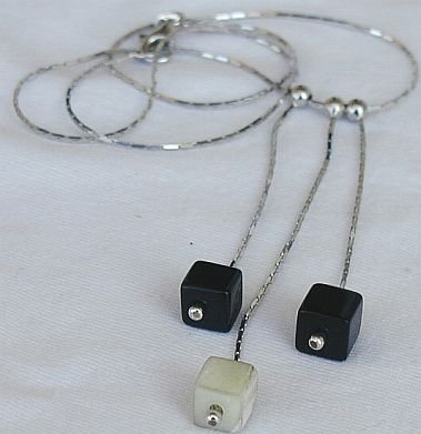 Black and white cubes necklace