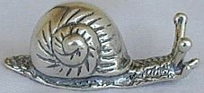 Cute Snail  silver miniature