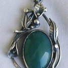 Unique green pendant