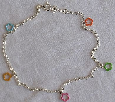 Colored shapes anklet