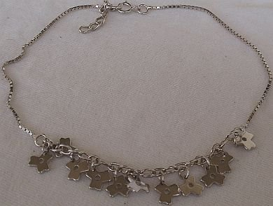 Flowers charms anklet
