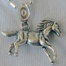 Mini horse silver pendant