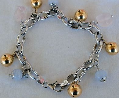 quartz and gold bracelet