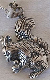 Squirrel silver pendant