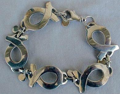 Maskit letter bracelet