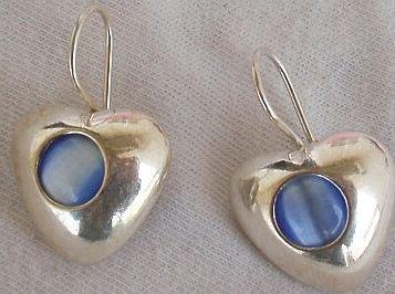 Mini light blue earrings-A