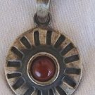 Red pendant with black silver
