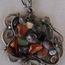 I cut stones+silver chain