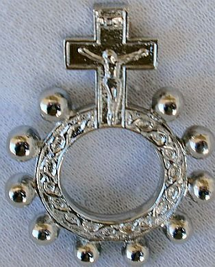 Finger rosary -a-silver colored