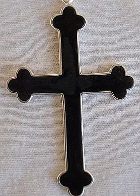 Cross with oynx surface